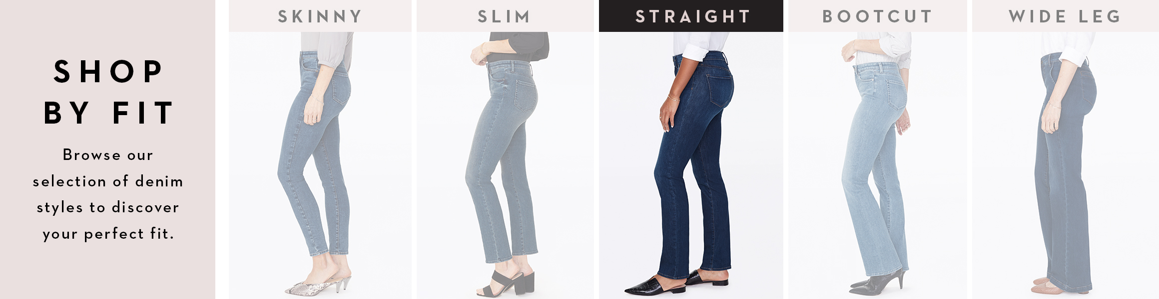 Womens Straight Jeans Banner